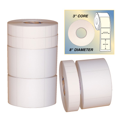 White Industrial Thermal Transfer Labels
