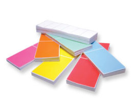 Fan Folded Colored Industrial Thermal Transfer Labels
